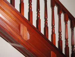 sapele spindles